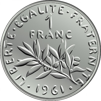 Moneta francese moneta un franco dritto