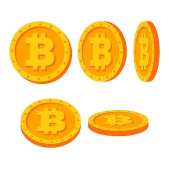 Monete d'oro bitcoin