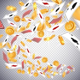 Monete d'oro del dollaro 3d