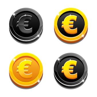 Monete stabilite del dollaro dorato e nero del fumetto