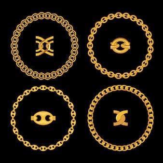 Monili a catena d'oro isolati