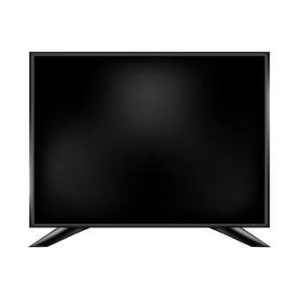Monitor 3d realistico, illustrazione digitale schermo tecnologia