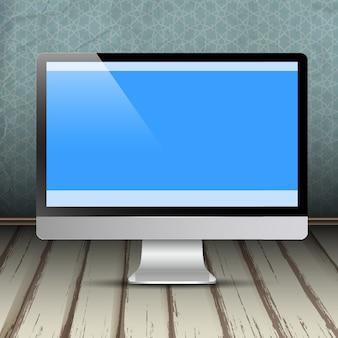 Monitor del computer nella stanza d'annata