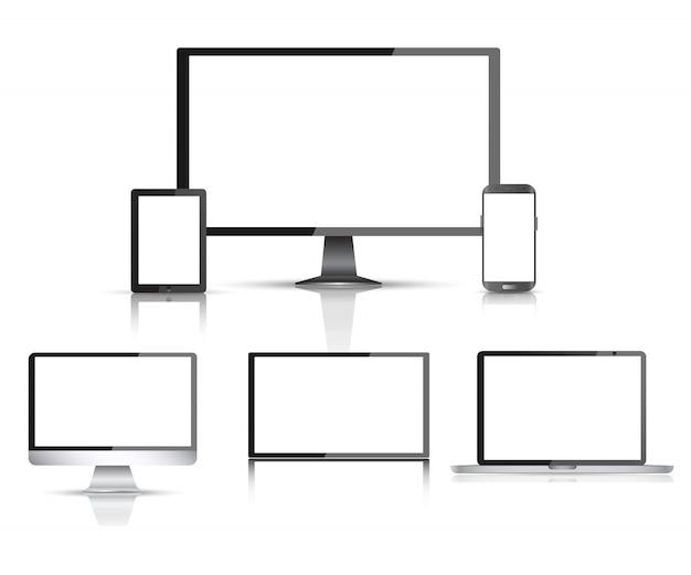 Monitor del computer realistico
