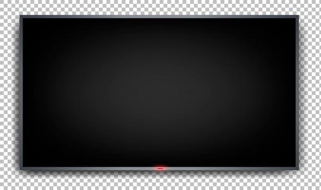 Monitor piatto su uno sfondo trasparente