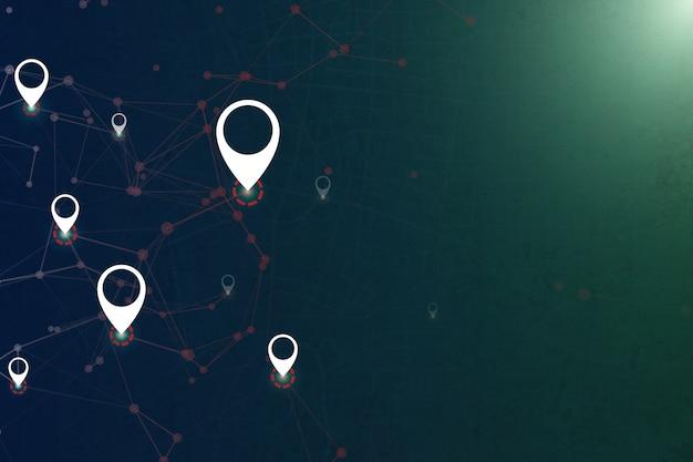Monitoraggio della tecnologia gps con spazio aperto