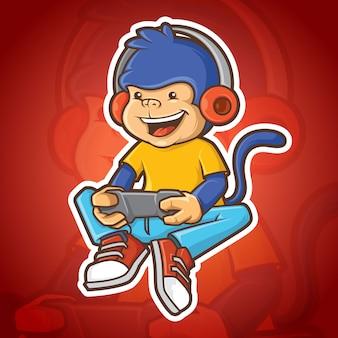 Monkey gamer mascot