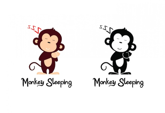 Monkey sleeping