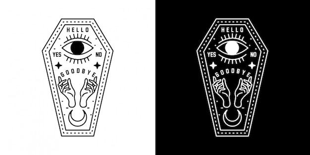 Monoffa della morte monoline design