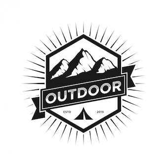 Monogramma all'aperto logo vintage