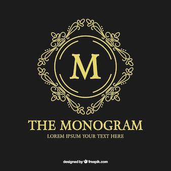 Monogramma d'oro elegante
