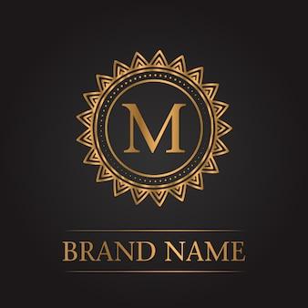 Monogramma di lusso oro modello