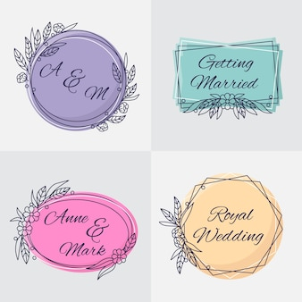 Monogrammi di nozze dal design elegante