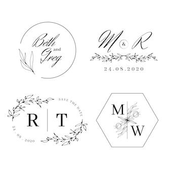 Monogrammi di nozze eleganti