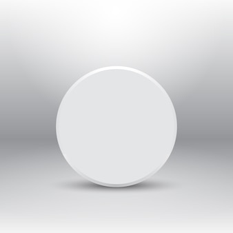 Monolocale con forma circolare astratta