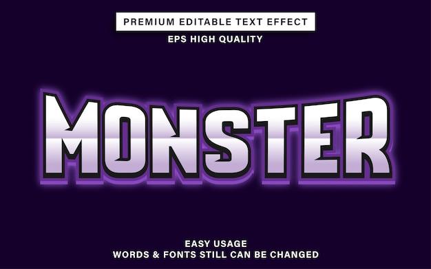 Monster esporta l'effetto del testo