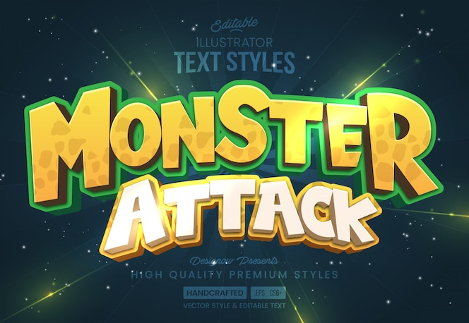 Monster text style