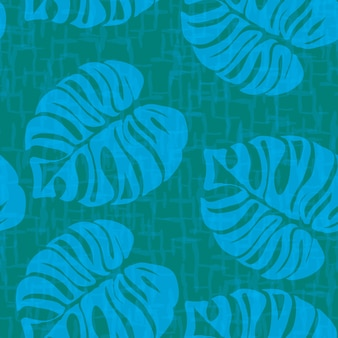 Monstera tropical leaves summer pattern infinito