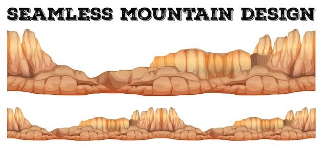 Montagna senza saldatura nel canyon