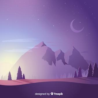 Montagne sullo sfondo del paesaggio