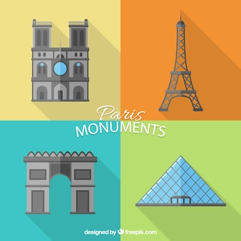 Monumenti di parigi pacco