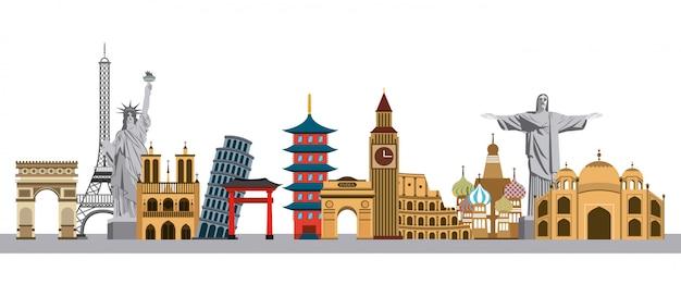 Monumenti iconici del mondo