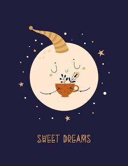 Moon baby e tazza di tisana.