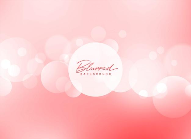 Morbido bokeh rosa bellissimo sfondo