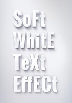 Morbido effetto di testo bianco
