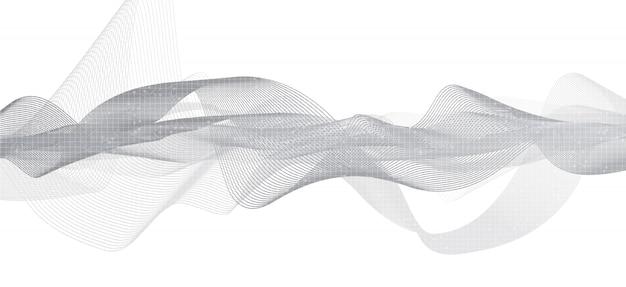 Morbido sfondo grigio sound wave