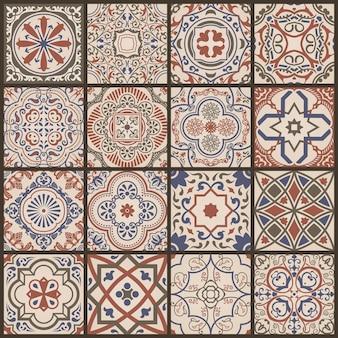 Mosaico floreale senza soluzione di continuità