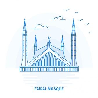Moschea blu faisal punto di riferimento