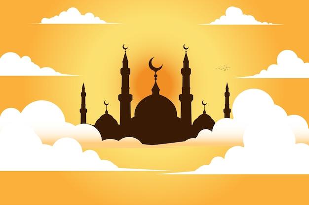 Moschea con il cielo