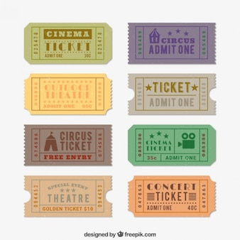 Mostra biglietti in stile retrò