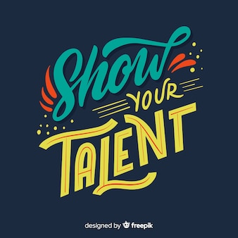 Mostra il tuo talento lettering