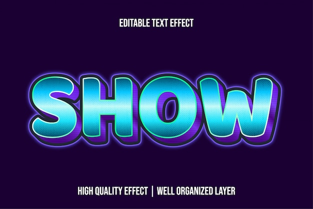 Mostra stile effetto testo grassetto blu
