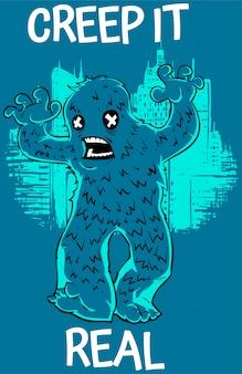 Mostro blu terrificante