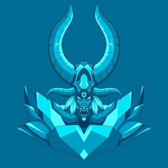 Mostro demoniaco drago