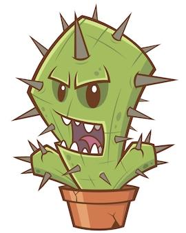 Mostro di cactus del fumetto