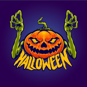 Mostro di zucca di halloween ccharacter