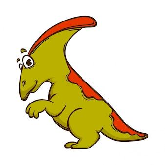 Mostro simpatico cartone animato di dinosauro