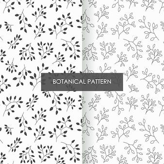 Motivi floreali floreali, rami naturali e foglie modello tessile