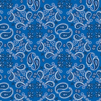 Motivo a bandana paisley blu
