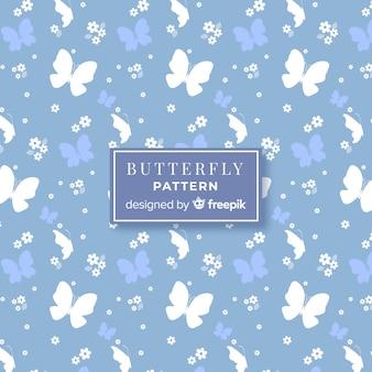 Motivo a farfalla piatta