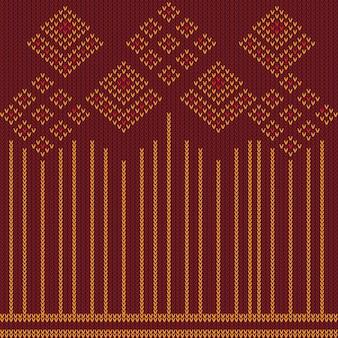 Motivo a maglia vintage