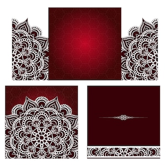Motivo a medaglione paisley indiano floreale.