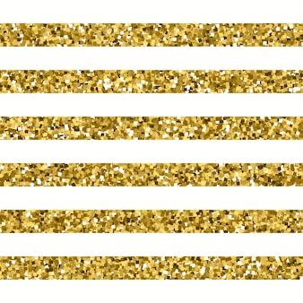Motivo a strisce glitterato con effetto oro scintillante