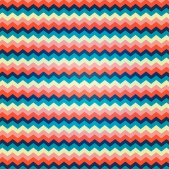Motivo a zig zag con colori vibranti