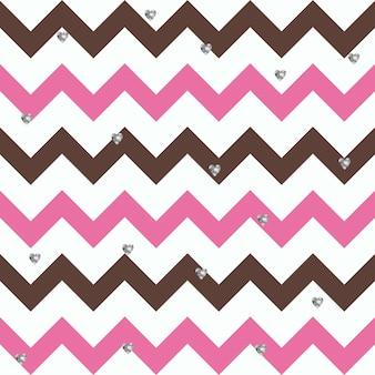 Motivo a zigzag del cioccolato bubblegum