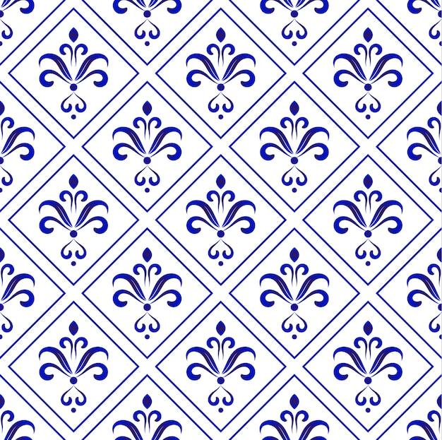 Motivo barocco in porcellana